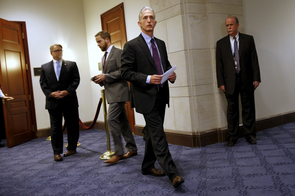 U.S. House Select Committee on Benghazi Chairman Representative Trey Gowdy (R-SC) led the committee talks on what happened during the attack on diplomatic facilities in Benghazi, Libya. Photo by Jonathan Ernst/Reuters.