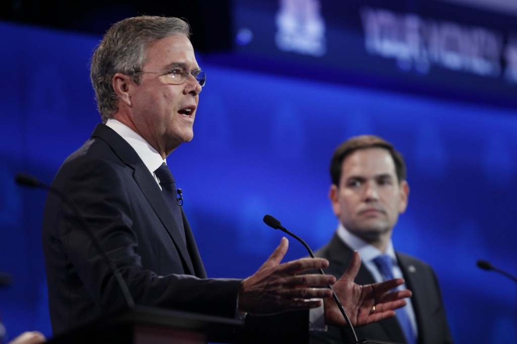 Former Florida Gov. Jeb Bush needs a strong debate performance to reverse his slide in the polls. Photo by Rick Wilking/Reuters