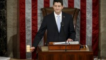 Newly elected Speaker of the U.S. House of Representatives Paul Ryan wields the speaker's gavel for the first time on Capitol Hill in Washington October 29, 2015. REUTERS/Gary Cameron       TPX IMAGES OF THE DAY      - RTX1TV2Z