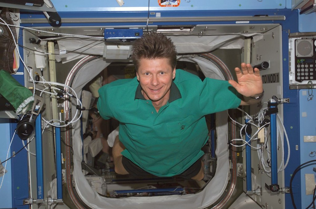 Russina cosmonaut Gennady Padalka has spent so much time in space that he's technically traveled into the future. Photo by NASA