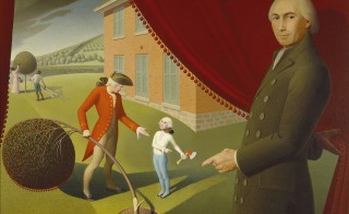 """Parson Weems' Fable,"" by Grant Wood, 1939, from the Amon Carter Museum of American Art"