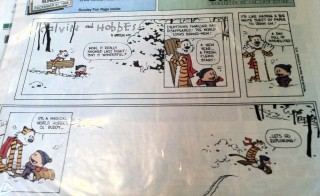"The final ""Calvin and Hobbes"" strip. Photo by Flickr user Rob Marquardt"