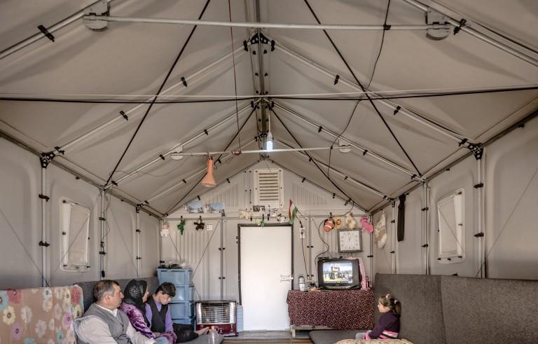 Inside a Better Shelter housing unit in Kawergosk, Iraq. Photo courtesy of Better Shelter