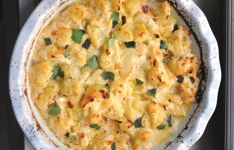 Cauliflower Cheese. Photo by Leanne Brown.