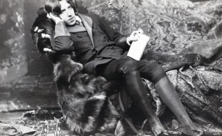 Irish novelist and playwright Oscar Wilde died on this day in 1900. Photo by Napoleon Sarony/Universal History Archive/Getty Images