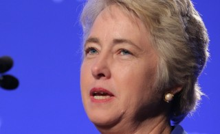 Houston Mayor Annise Parker, seen in this 2014 file photo, says that despite the failed passing of an ordinance that would have established nondiscrimination protections for gay and transgender people, she will continue to fight for LGBT rights. Photo by Jemal Countess/Getty Images