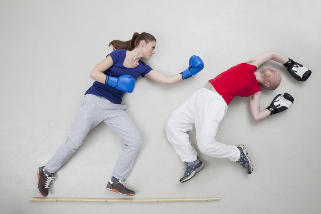 Punching, kicking and aggressive motions are common during deep sleep for people with REM sleep behavior disorder. Photo by Westend61/via Getty Images