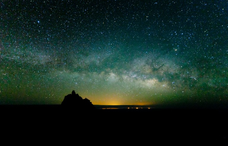 Milky way over La Palma in the Canary Islands in Spain. Photo by Dominic Dähncke and Getty Images