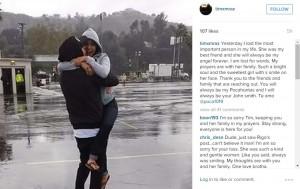 "Gonzalez's boyfriend, Tim Mraz, wrote on Instagram that she was his ""best friend."" Screengrab via Instagram."