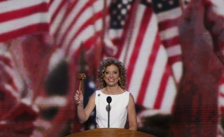 Debbie Wasserman Schultz, Chair of the Democratic National Committee, gavels the start of the first day of the Democratic National Convention in Charlotte, North Carolina on Sept. 4, 2012. Schultz will release a report Tuesday that layouts how the Democrats intend to rebuild after massive losses in the midterm elections during Barack Obama's presidency. Photo by Jason Reed/Reuters