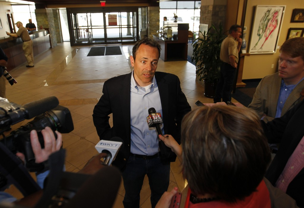 Republican Matt Bevin, a candidate for governor of Kentucky, hopes to win the office that Democrats have dominated for 40 out of the last 44 years. Polls suggest that the Kentucky gubernatorial race, which is a highlight in this off-year election Tuesday, is a close one between Bevin and Attorney General Jack Conway, a Democrat. Photo by John Sommers II/Reuters