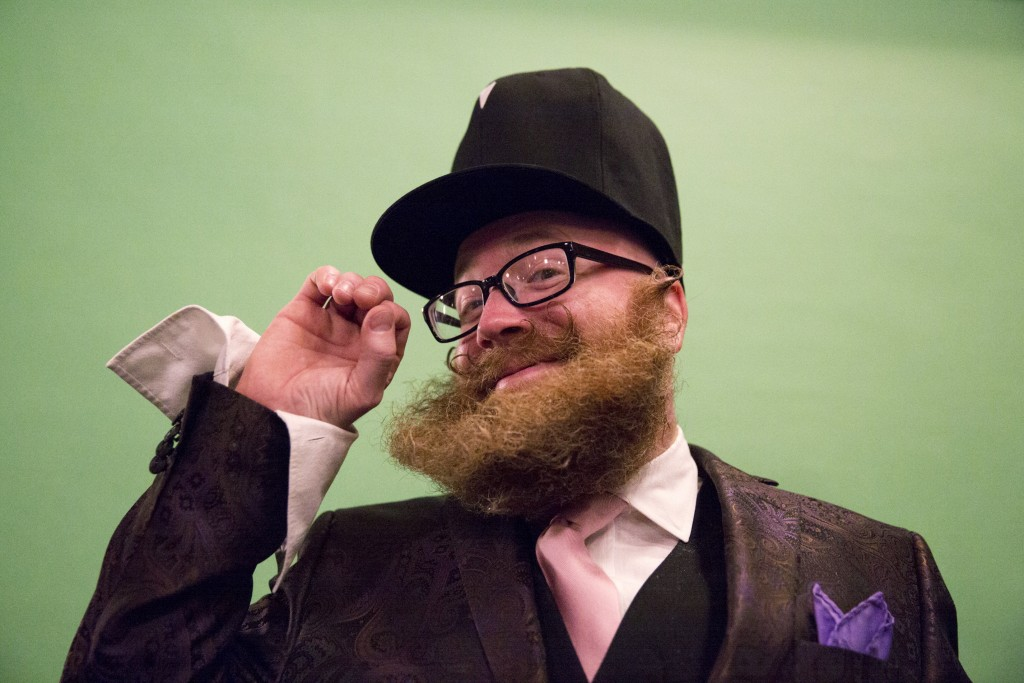 Adam Falandys at the 2015 Just For Men National Beard & Moustache Championships. Photo by Elizabeth Shafiroff/Reuters