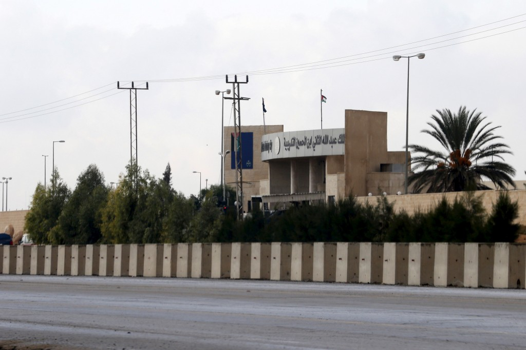General view of King Abdullah bin Al Hussein Training Center where a Jordanian officer went on a shooting spree on Monday in Mwaqar near Amman, Jordan, November 9, 2015. Two American military personnel and one South African were killed when a Jordanian officer went on a shooting spree on Monday at a U.S.-funded security training facility near Amman, Jordan's government spokesman said. Jordan's Minister of State for Media Affairs, Mohammad Momani told Reuters the attacker also wounded six people, including two Americans, one of whom was in critical condition, before being shot dead shot by Jordanian security forces. The gunman did not commit suicide as security sources earlier said. Photo by Muhammad Hamed/Reuters