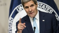 """U.S. Secretary of State John Kerry delivers remarks on the """"U.S. strategy in Syria"""" during a speech at the United States Institute of Peace in Washington November 12, 2015. REUTERS/Joshua Roberts - RTS6PL0"""