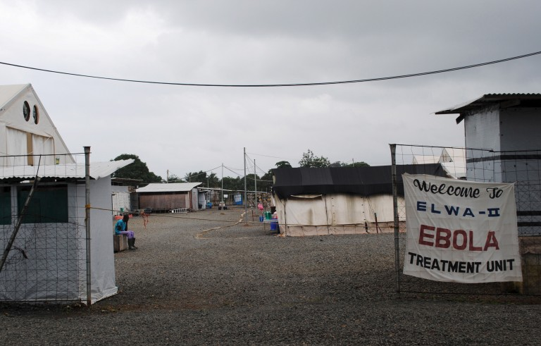 The Ebola virus treatment center in Paynesville, Liberia, where four people were being treated for the disease on  July 16, 2015. Liberia, months after being declared Ebola-free in September, has seen its first fatal case. Photo James Giahyue/Reuters