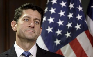 Republican lawmakers may try to use must-pass government spending legislation to block President Barack Obama's plans to increase the number of Syrian refugees entering the U.S. New House Speaker Paul Ryan of Wisconsin tells conservative talk host Bill Bennett on Monday that he's looking at all options. Photo by Gary Cameron/Reuters