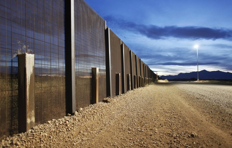 The Arizona-Mexico border fence near Naco, Arizona, as seen on March 29, 2013.  A federal appeals court has ruled against President Barack Obama's plan to protect an estimated 5 million people living in the United States illegally from deportation. Samantha Sais/Reuters