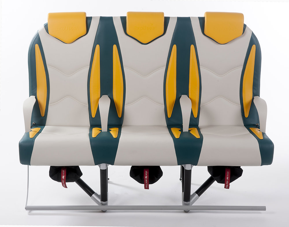 French manufacturer Expliseat designs airplane chairs that weigh as little as nine pounds. Photo by Expliseat