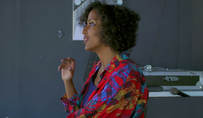 Selam Bekele, an artist and Afrofuturist based in Oakland, CA. Photo by Benjamin Michel