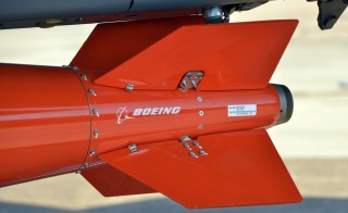 One major difference between the old B61 and the new version of the bomb, above, is the tail fins. On the old B61, the fins were welded and screwed in place.  The B61-12's tail fins move. Using inertial navigation, the bomb is guided to its target. Critics say the new tail kit and other enhancements effectively make the B61 a whole new nuclear bomb. These critics say the B61-12's new capabilities are a violation of President Obama's 2010 pledge to not introduce new military capabilities into the nuclear arsenal. Photo by Dan Sagalyn