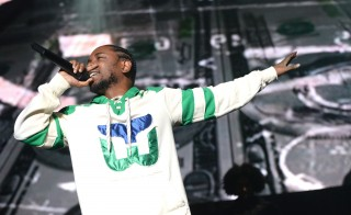 """INGLEWOOD, CA - NOVEMBER 08:  Musician Kendrick Lamar performs onstage during REAL 92.3's 'The Real Show"""" at The Forum on November 8, 2015 in Inglewood, California.  (Photo by Scott Dudelson/Getty Images)"""
