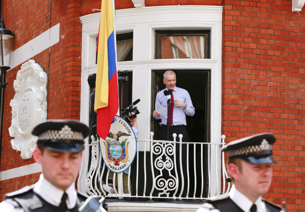 A new agreement may allow Swedish police to question WikiLeaks founder Julian Assange who has been staying in Ecuador's embassy in London since 2012. Photo by Olivia Harris/Reuters