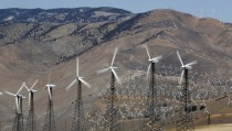 A section of the Tehachapi Pass Wind Farm is pictured in Tehachapi, California June 19, 2013.    REUTERS/Mario Anzuoni  (UNITED STATES - Tags: ENERGY) - RTX10UQR