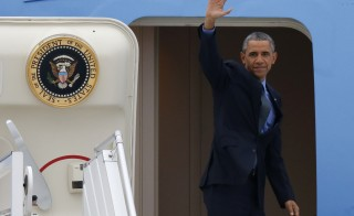U.S. President Barack Obama waves as he boards Air Force One Dec. 1 at Orly airport near Paris, France. Obama was in France for a two-day visit as part of the World Climate Change Conference 2015, while he plans on a string of executive actions and foreign policy moves in his final year as president.     Photo By Eric Gaillard