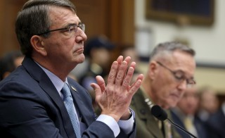 U.S. Defense Secretary Ash Carter (left) and Joint Chiefs Chairman Marine Corps Gen. Joseph Dunford Jr. testified on the U.S. strategy in Iraq and Syria before the House Armed Services Committee in Washington, D.C., on Dec. 1. Photo by Gary Cameron/Reuters