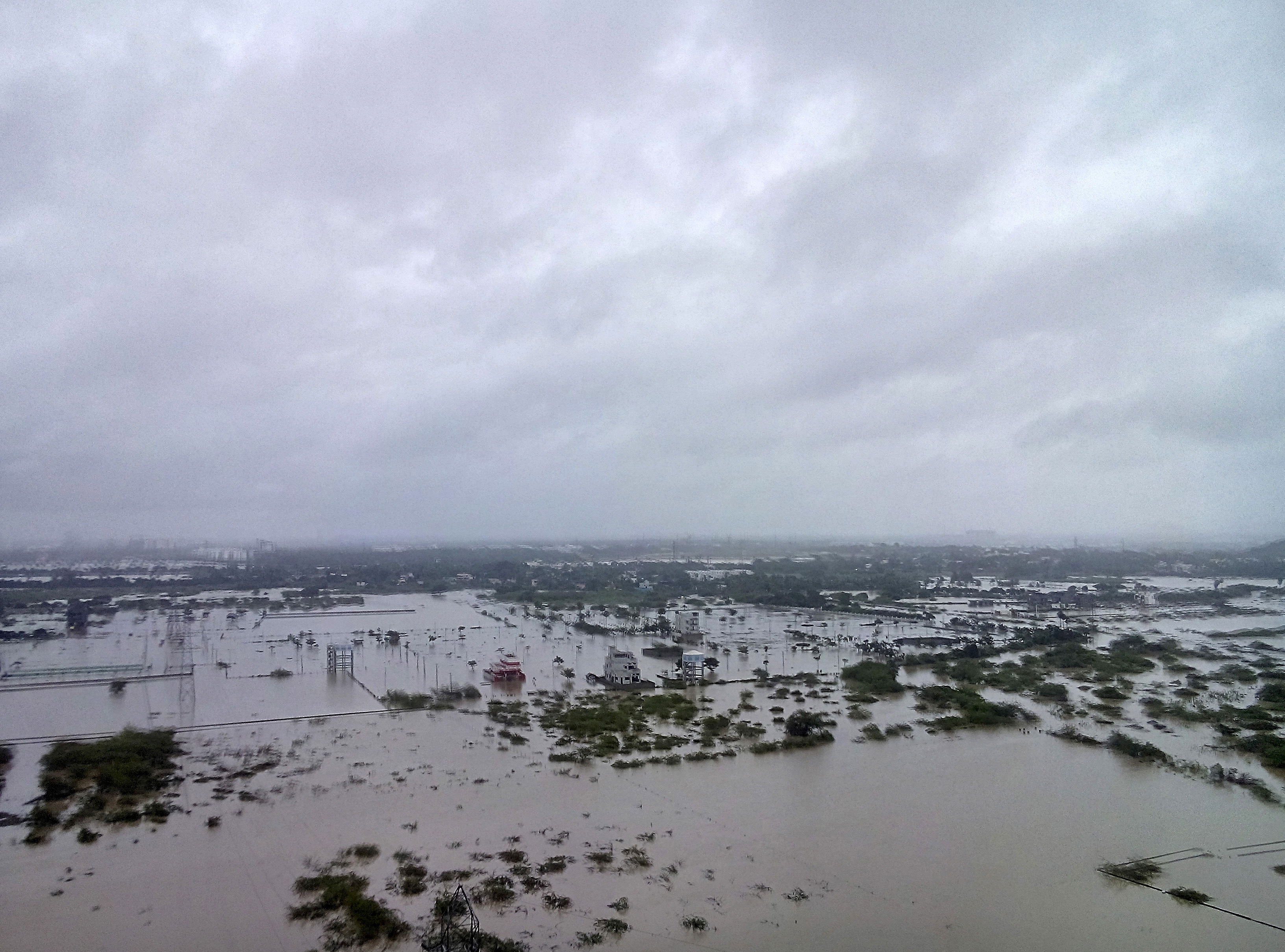 Heavy rains caused flooding in and around Chennai, India, on Dec. 2. Photo by Reuters stringer