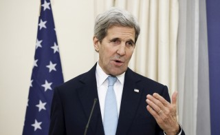 U.S. Secretary of State John Kerry addresses journalists during a joint news conference with Greek Foreign Minister Nikos Kotzias (not pictured) at the ministry in Athens, Greece, December 4, 2015. REUTERS/Alkis Konstantinidis - RTX1X6E9