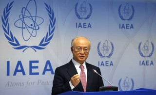 International Atomic Energy Agency (IAEA) Director General Yukiya Amano addresses a news conference after a board of governors meeting at the IAEA headquarters in Vienna, Austria, December 15, 2015. REUTERS/Heinz-Peter Bader - RTX1YT58