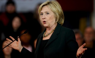 U.S. Democratic presidential candidate Hillary Clinton speaks during a town hall event at Old Brick Church and Community Center in Iowa City, Iowa, December 16, 2015. REUTERS/Mark Kauzlarich - RTX1Z130