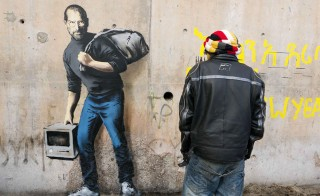 Steve Jobs from banksy.co.uk.