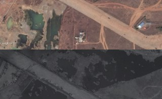 Satellite images illustrate the effects of what some are calling a 100-year flood that has washed over Chennai, India's fourth-largest city. The top image was taken on March 19. The bottom image shows the same area on Dec. 8. Photo by Google and DigitalGlobe.