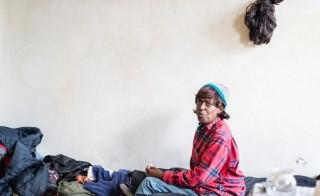 Loren Jones, 63, lives in a government-subsidized studio apartment in downtown Berkeley. (Heidi de Marco/KHN)