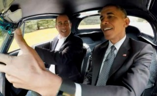 """President Barack Obama appeared in the first episode of the seventh season of Jerry Seinfeld's web series """"Comedians in Cars Getting Coffee."""" Image courtesy of Comedians in Cars Getting Coffee"""