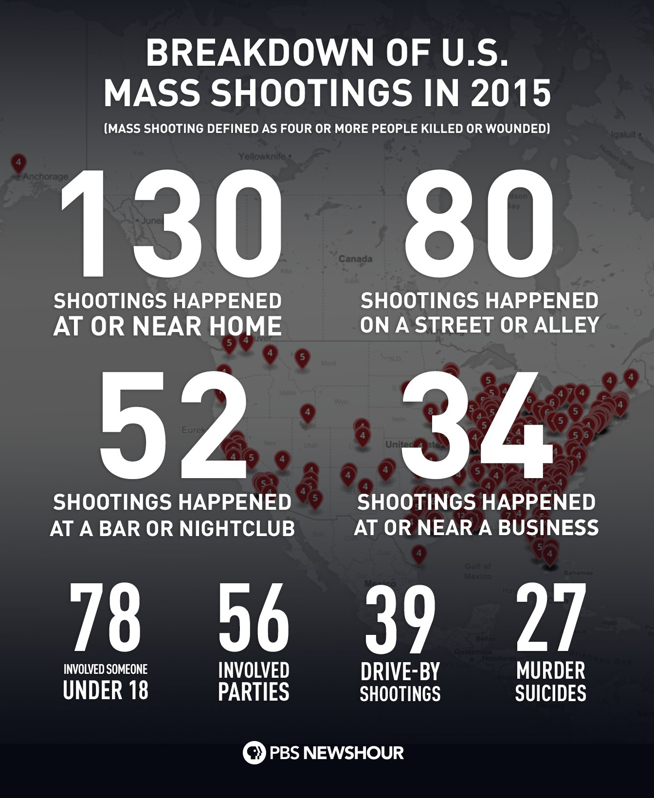 ... : Where America's mass shootings happened in 2015   PBS NewsHour
