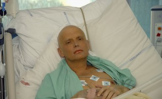 In this image made available on Nov. 25, 2006, Alexander Litvinenko is pictured at the Intensive Care Unit of University College Hospital on Nov. 20, 2006 in London. The 43-year-old former KGB spy died on Nov. 23, 2006, from the presence of the radioactive polonium-210 in his body. Photo by Natasja Weitsz/Getty Images