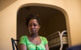 Linda Chatman, 40, talks about her son Cedrick at her apartment on Thursday, Aug. 28, 2014 in Chicago. Cedrick Chatman, 17, was killed by the Chicago police.  (Zbigniew Bzdak/Chicago Tribune/TNS via Getty Images)