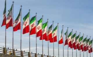 The flag of Iran is displayed. Photo by Izzet Keribar/Getty Images