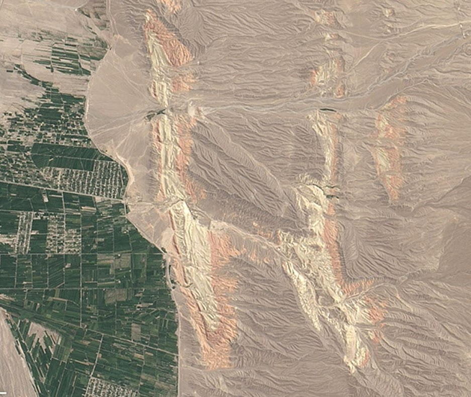 Hello H, what begins with H? Haze, hurricanes, and hydrocarbons. Hawaiiand Hakodate. Hummocky humus heaped on these hills in the heart of Kyrgyzstan. On Aug. 30, 2014, the Operational Land Imager on Landsat 8 acquired this image of rivers running through colorful ridges in southwestern Kyrgyzstan.
