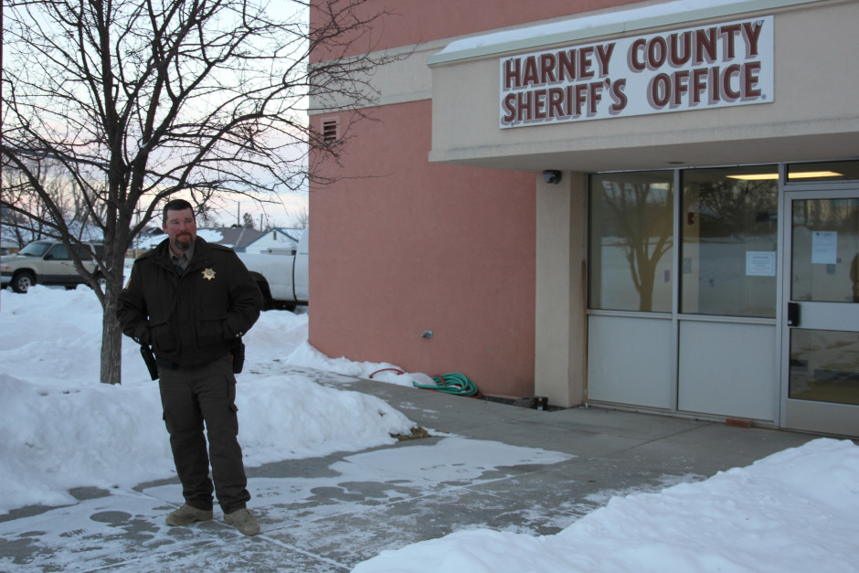 Harney County Sheriff David Ward has been under fire from militia groups around the country for refusing to create a sanctuary for the Hammonds to protect them from having to surrender. Photo by Amanda Peacher/OPB