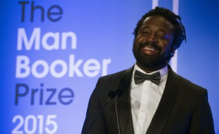 """Marlon James, author of """"A Brief History of Seven Killings"""", reacts after winning the Man Booker Prize for Fiction 2015 in London, Britain October 13, 2015. REUTERS/Neil Hall      TPX IMAGES OF THE DAY      - RTS4BXF"""
