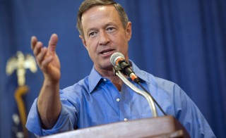 Democratic U.S. presidential candidate Governor Martin O'Malley speaks at the Central Iowa Democrats Fall Barbecue in Ames, Iowa, on Nov. 15, 2015. O'Malley must have an average of five percent in national or early voting polls to qualify for the January 17 debate in Charleston, South Carolina. He has been polling around five percent. Photo by Mark Kauzlarich/Reuters