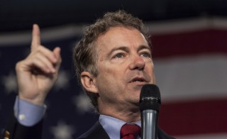 U.S. Republican presidential candidate Rand Paul speaks at the Iowa State Fairgrounds in Des Moines, Iowa, Oct. 31, 2015. Photo by Brian C. Frank/Reuters