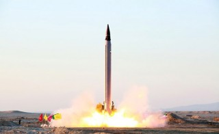 An Iranian Emad rocket is launched as it is tested at an undisclosed location October 11, 2015.  REUTERS/farsnews.com/Handout via Reuters ATTENTION EDITORS - THIS PICTURE WAS PROVIDED BY A THIRD PARTY. REUTERS IS UNABLE TO INDEPENDENTLY VERIFY THE AUTHENTICITY, CONTENT, LOCATION OR DATE OF THIS IMAGE. FOR EDITORIAL USE ONLY. NOT FOR SALE FOR MARKETING OR ADVERTISING CAMPAIGNS. NO RESALES. NO ARCHIVE. THIS PICTURE IS DISTRIBUTED EXACTLY AS RECEIVED BY REUTERS, AS A SERVICE TO CLIENTS.      TPX IMAGES OF THE DAY      - RTX1YTIZ