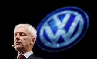 Volkswagen CEO Matthias Mueller speaks at their media reception during the North American International Auto Show in Detroit, Michigan, Jan. 10, 2016. Little details are known about Wednesday's closed-door meeting between Matthias and other VW officials and the Environmental Protection Agency over the automaker's emissions cheating scandal. Photo by Mark Blinch/Reuters