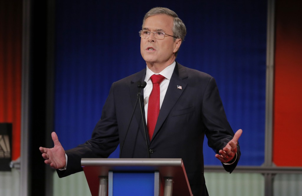 """In this administration, every weapon system has been gutted,"" Jeb Bush said at a debate in South Carolina earlier this month. Photo by Chris Keane/Reuters"