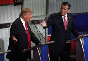 Donald Trump and Senator Ted Cruz are leading the field in Iowa, according to polls. Photos By Randall Hill/Reuters